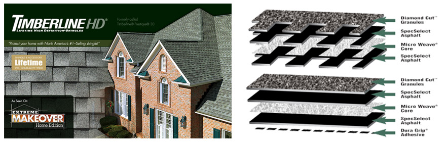 timerline roofing layers
